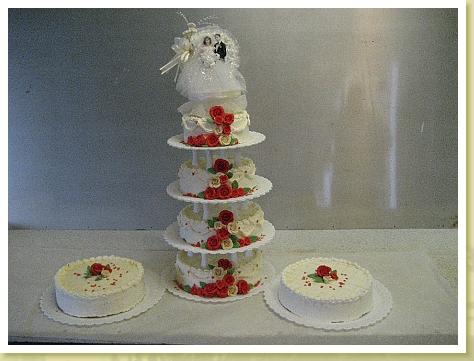 Vierstöckige Hochzeitstorte aus alten Zeiten....